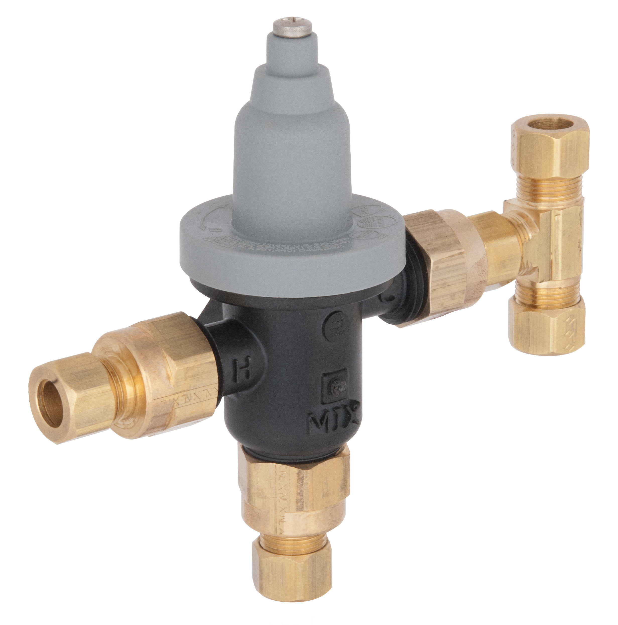 "High Quality Professional Design Thermostatic Mixer Valve: Point-of-Use Valve With 3/8"" Bypass And Compression"
