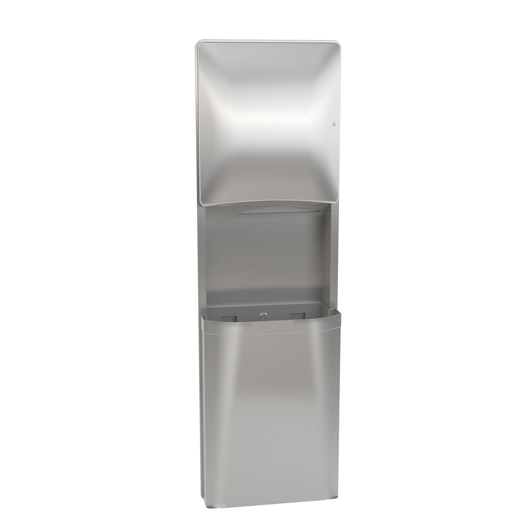 diplomat towel dispenserwaste receptacle - Bradley Bathroom Accessories