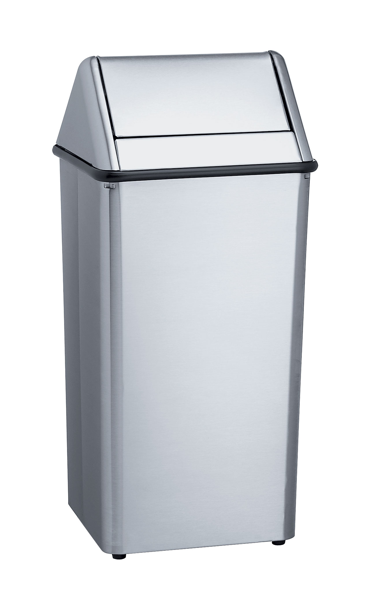 Free standing waste receptacle bradley corporation - Commercial bathroom waste receptacles ...