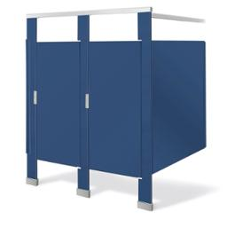 Plastic partitions cubicles