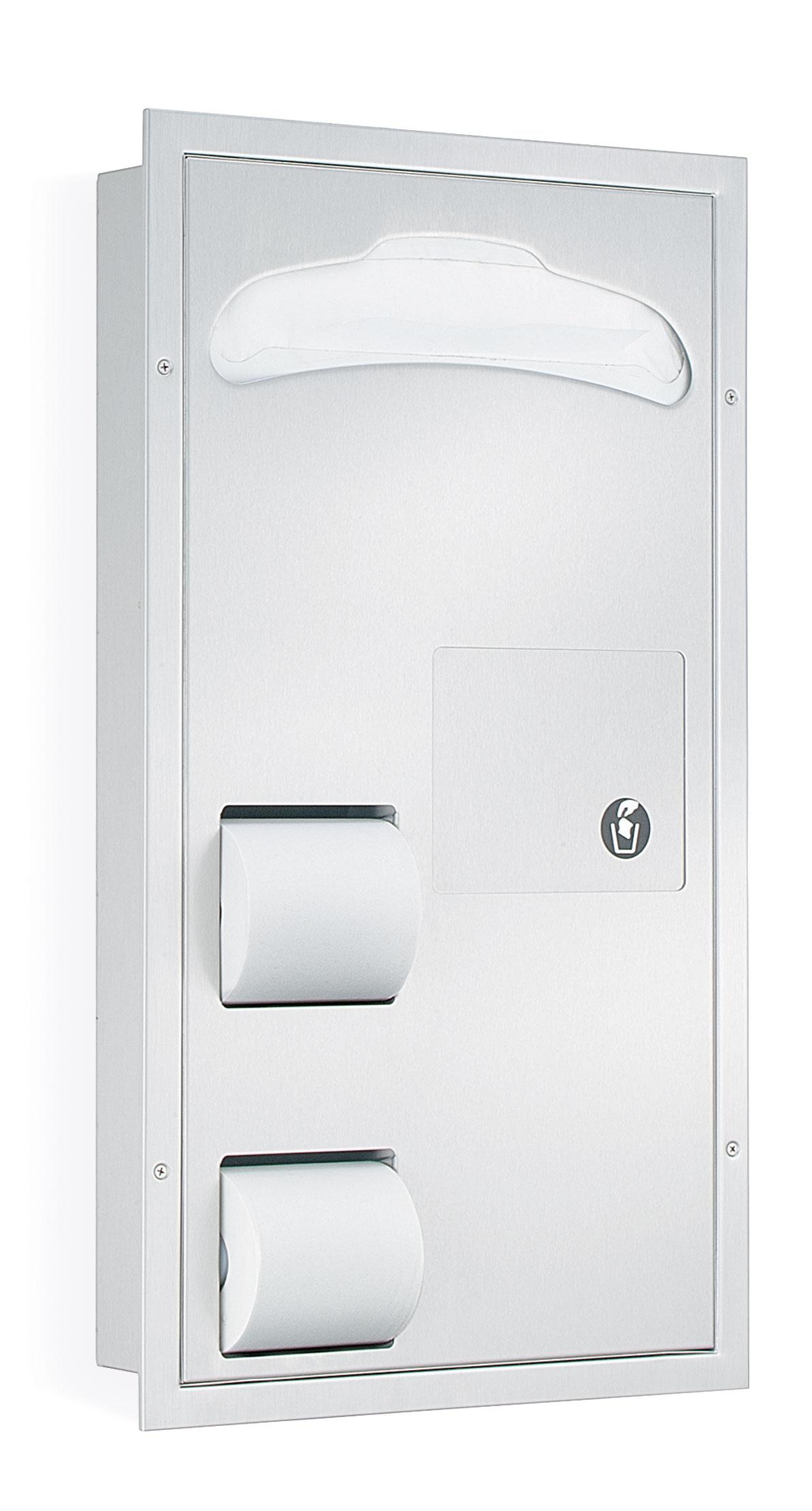 2 Stall Seat Cover Tissue Dispenser Napkin Disposal