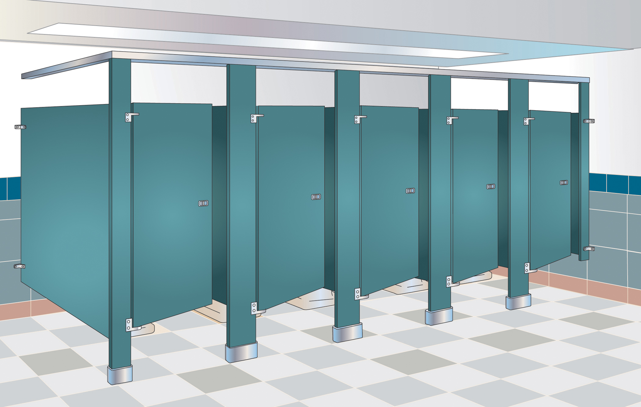 Bathroom Partitions Paint floor mounted bathroom partitions – meze blog