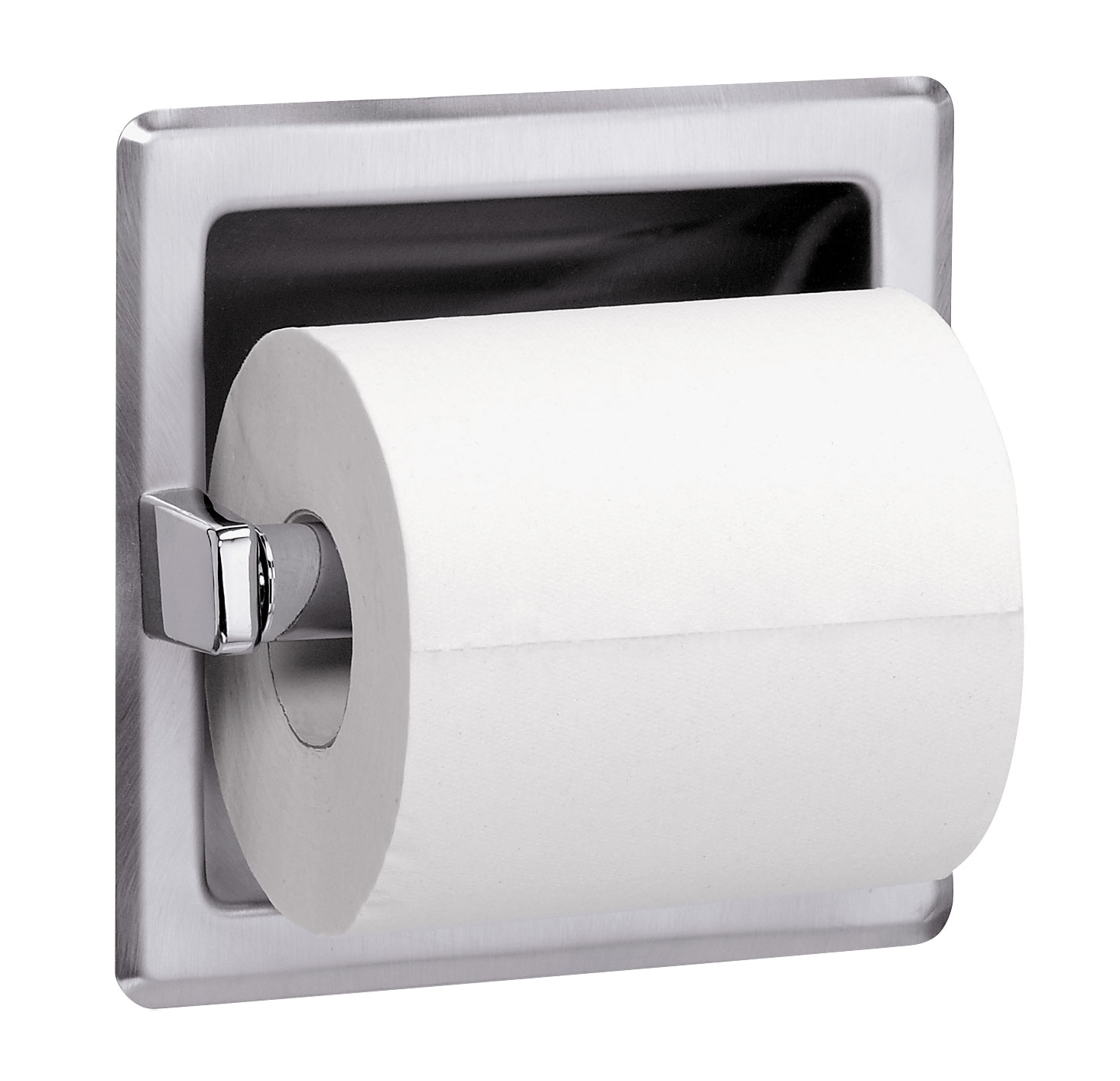 Bradley Bathroom Accessories Recessed Single Roll Toilet Tissue Dispenser  Bradley Corporation