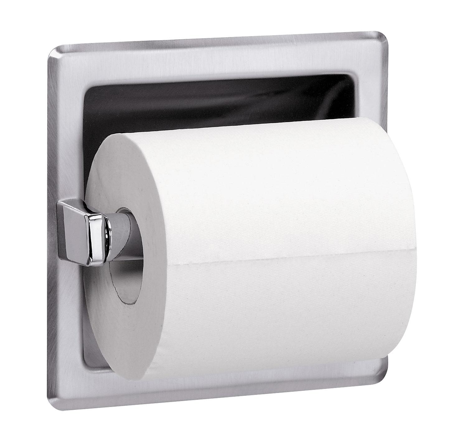 Recessed Single Roll Toilet Tissue Dispenser Bradley