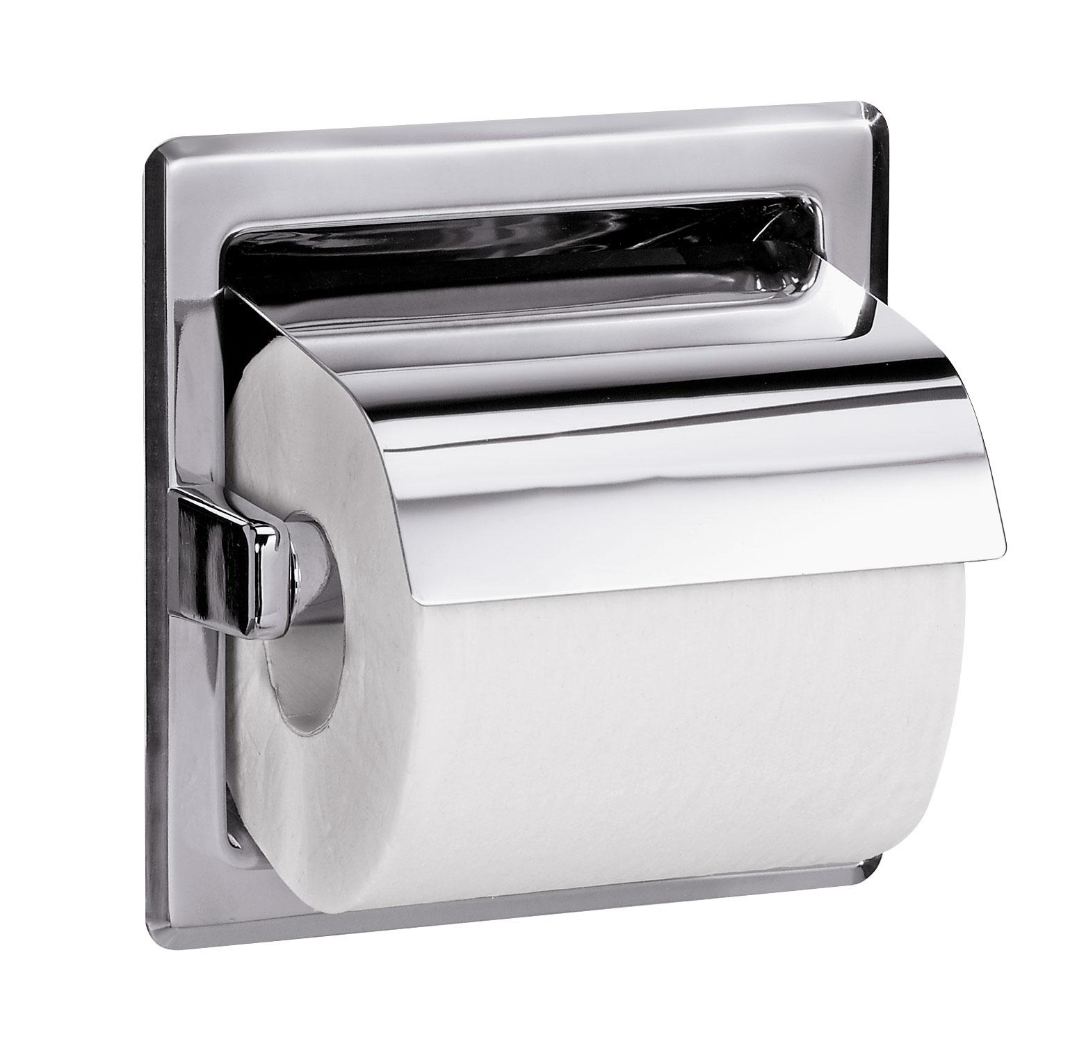 Recessed Hinged Hood Toilet Tissue Dispenser Bradley