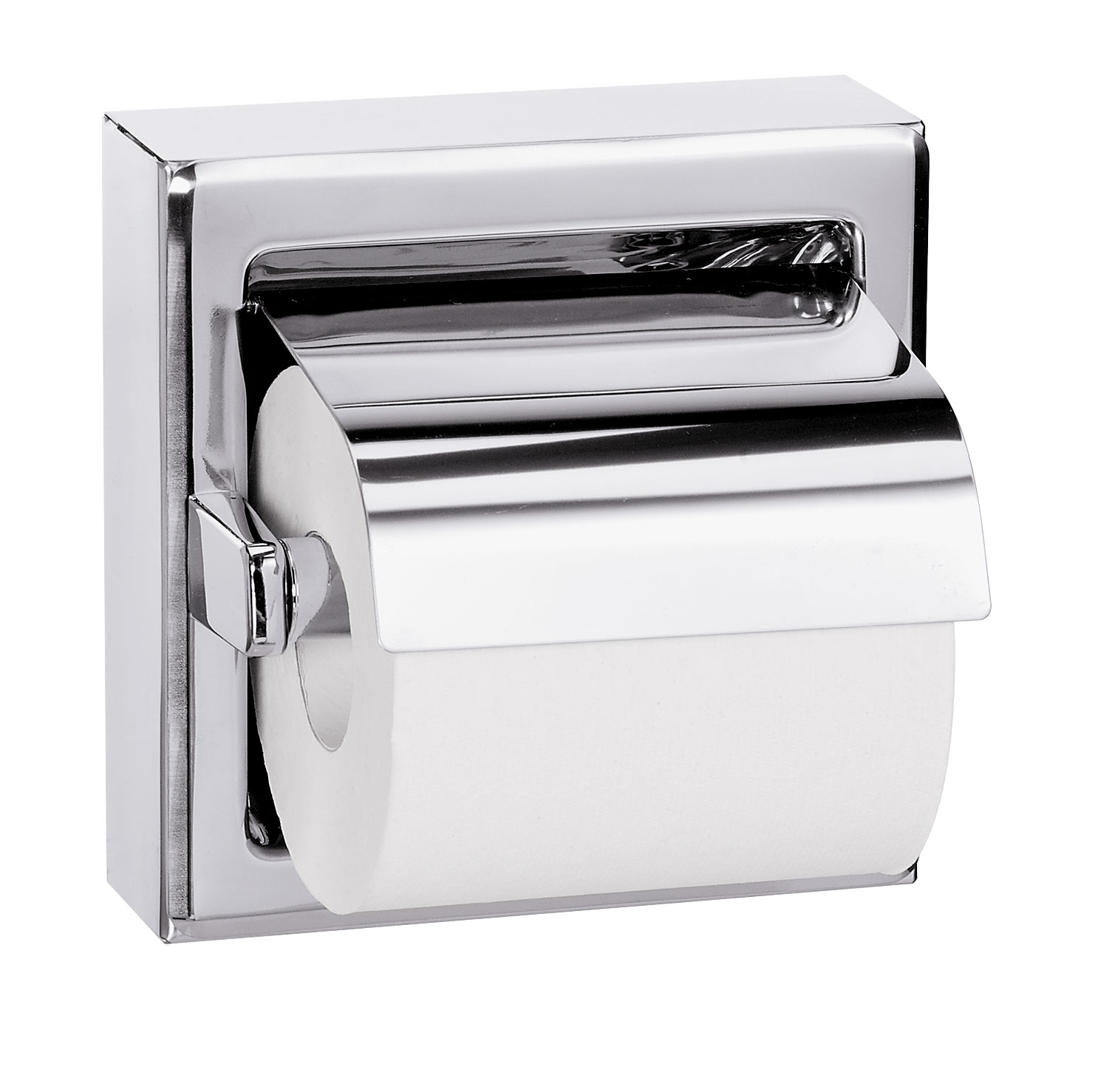 Surface Mounted Hinged Hood Single Roll Toilet Tissue