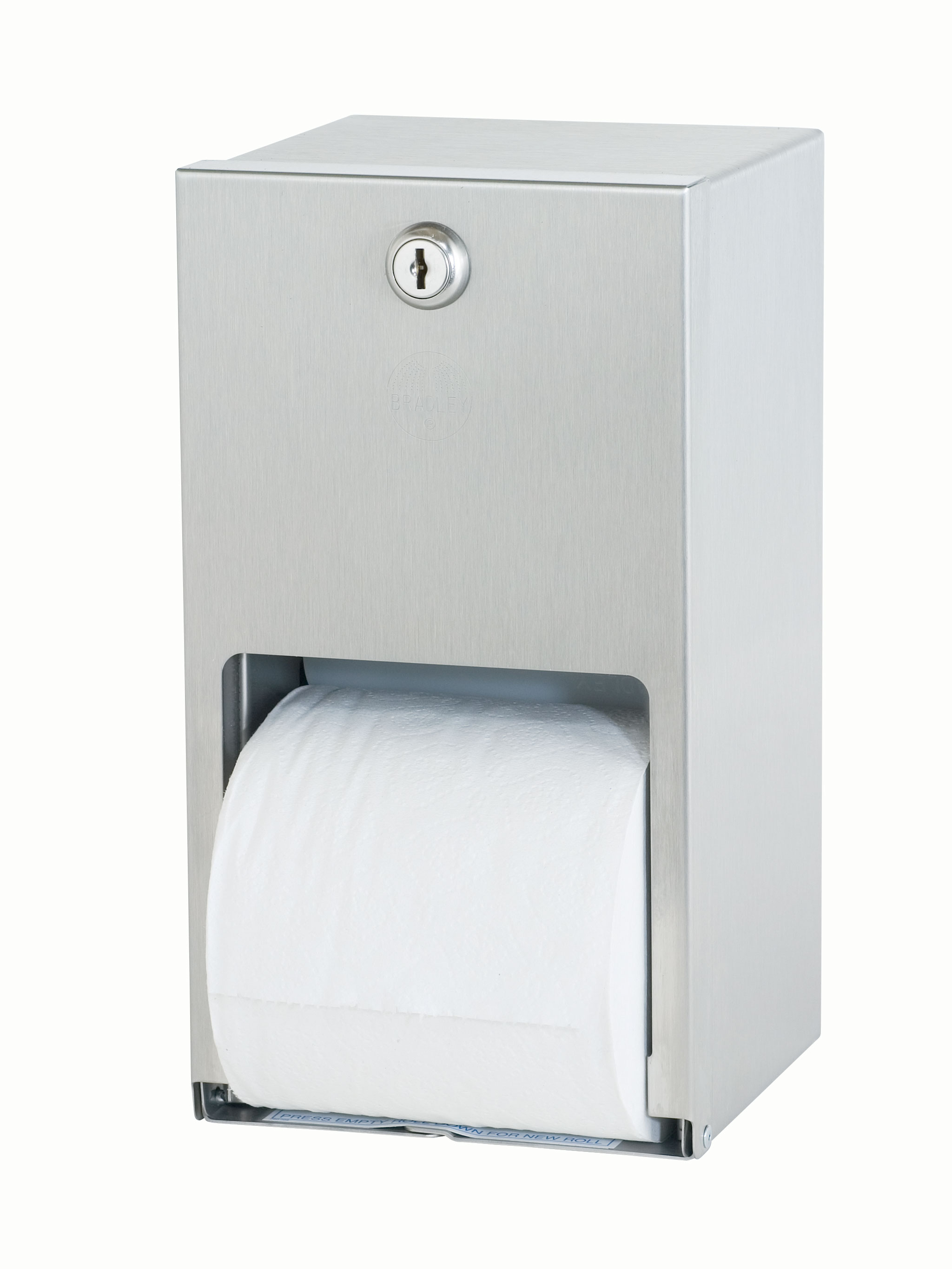 Bradley bathroom accessories - Surface Mounted Stainless Steel Toilet Tissue Dispenser