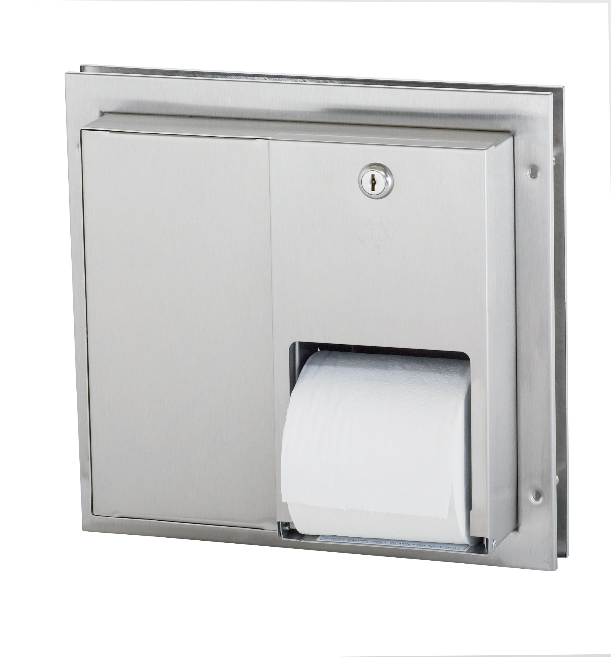 Partition Mounted Stainless Steel Toilet Tissue Dispenser