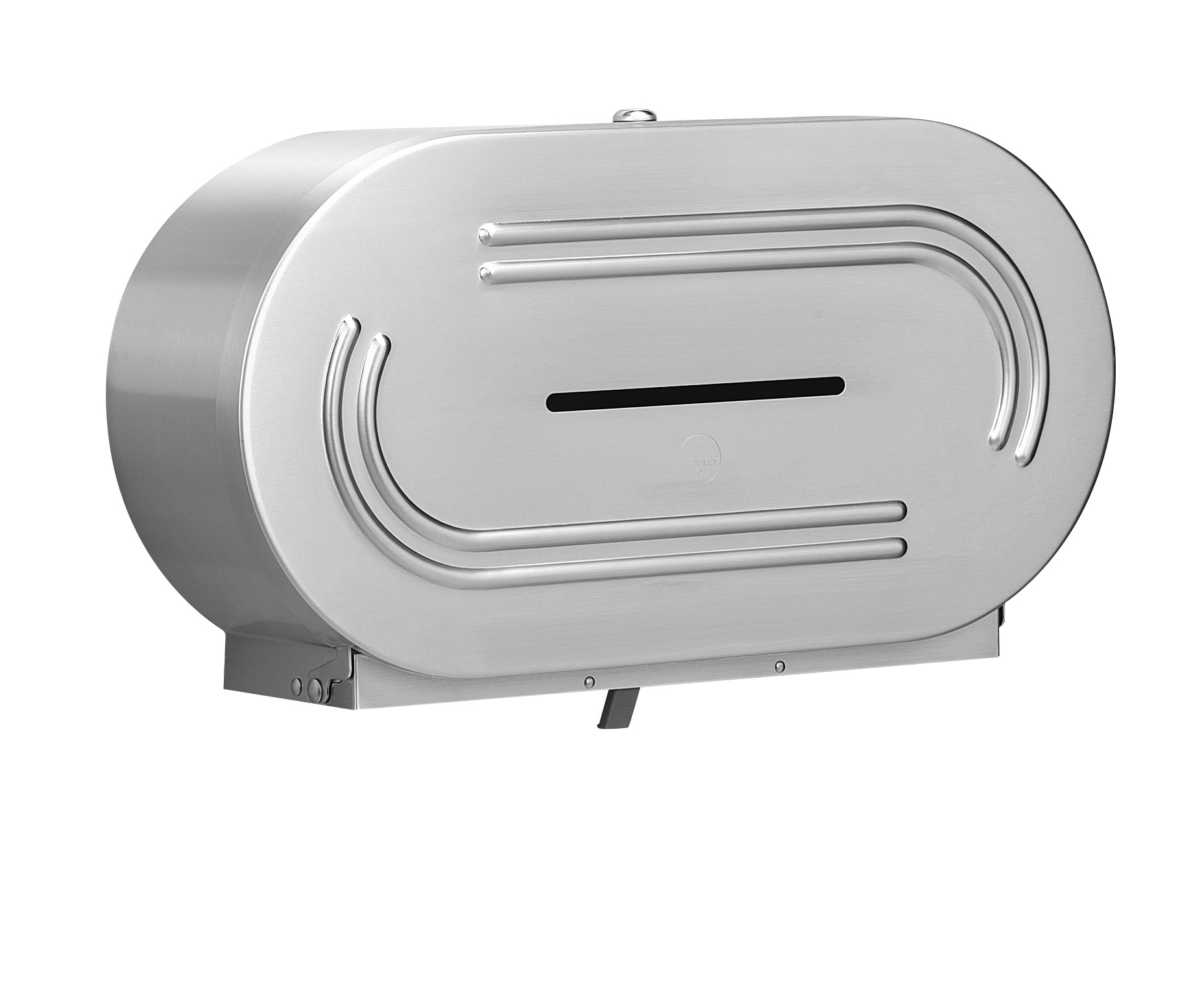 Bradley Bathroom Accessories Jumbo Dual Roll Toilet Tissue Dispenser  Bradley Corporation