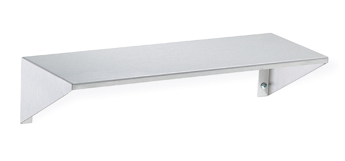 Stainless Steel Shelf With Integral End Brackets Bradley