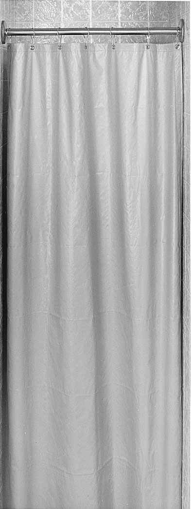 Delightful White Antimicrobial Shower Curtain