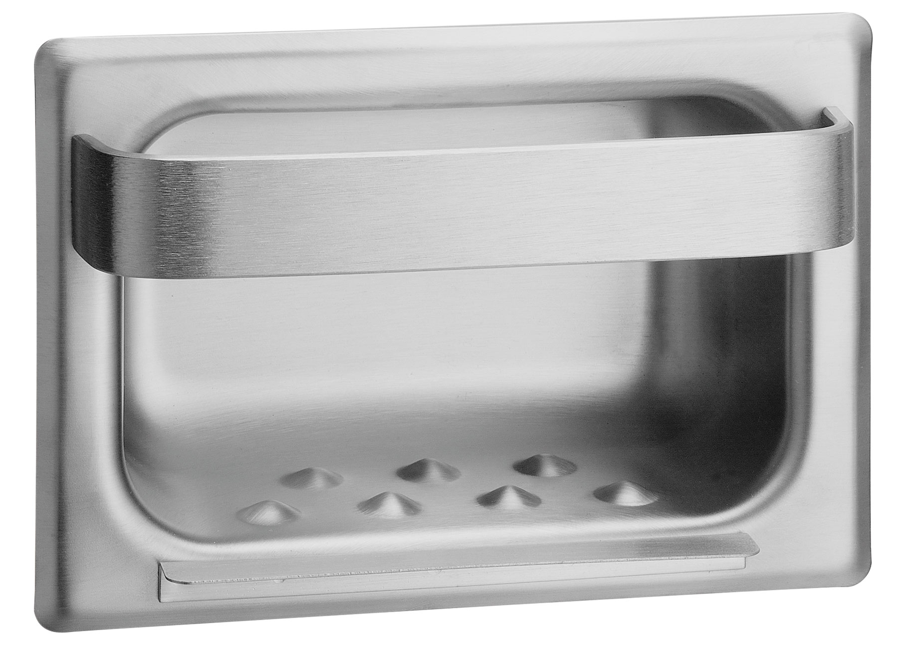 Stainless Steel Masonry Mount Soap Dish Towel Bar