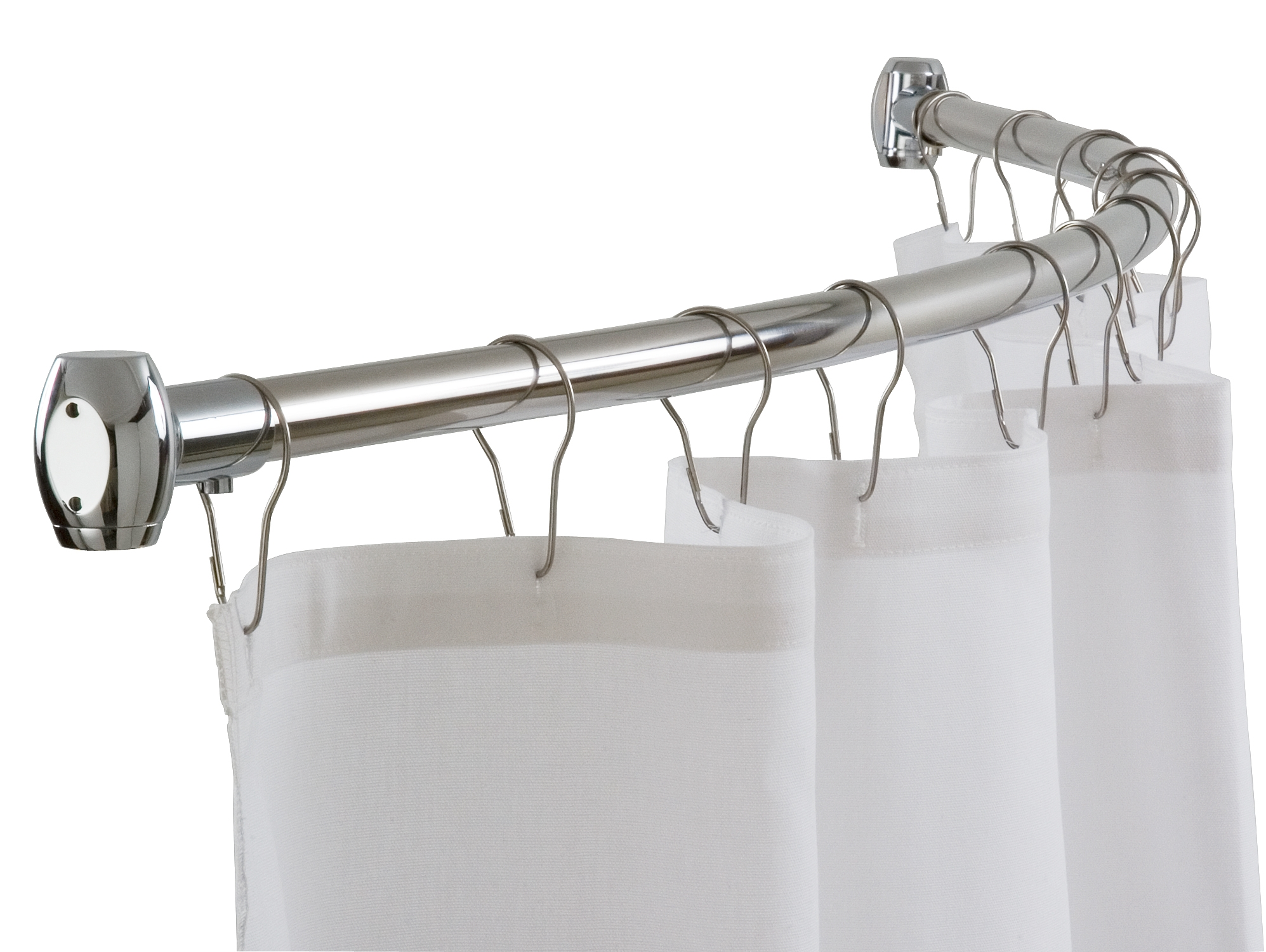 Shower curtain rods - Curved Shower Curtain Rod
