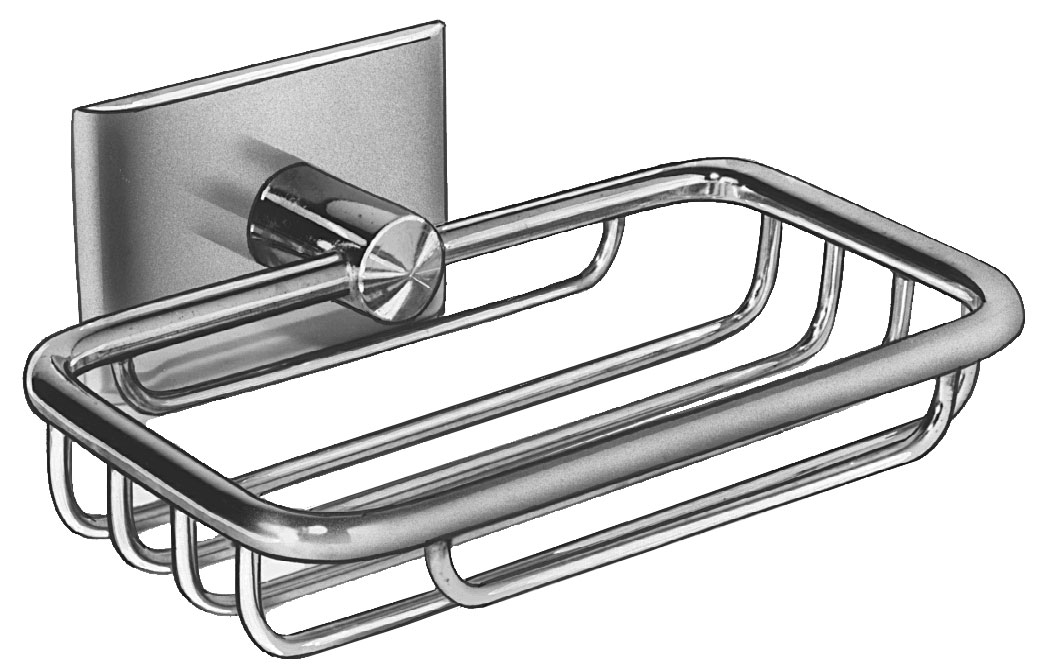Surface Mounted Chrome Plated Wire Soap Dish Bradley