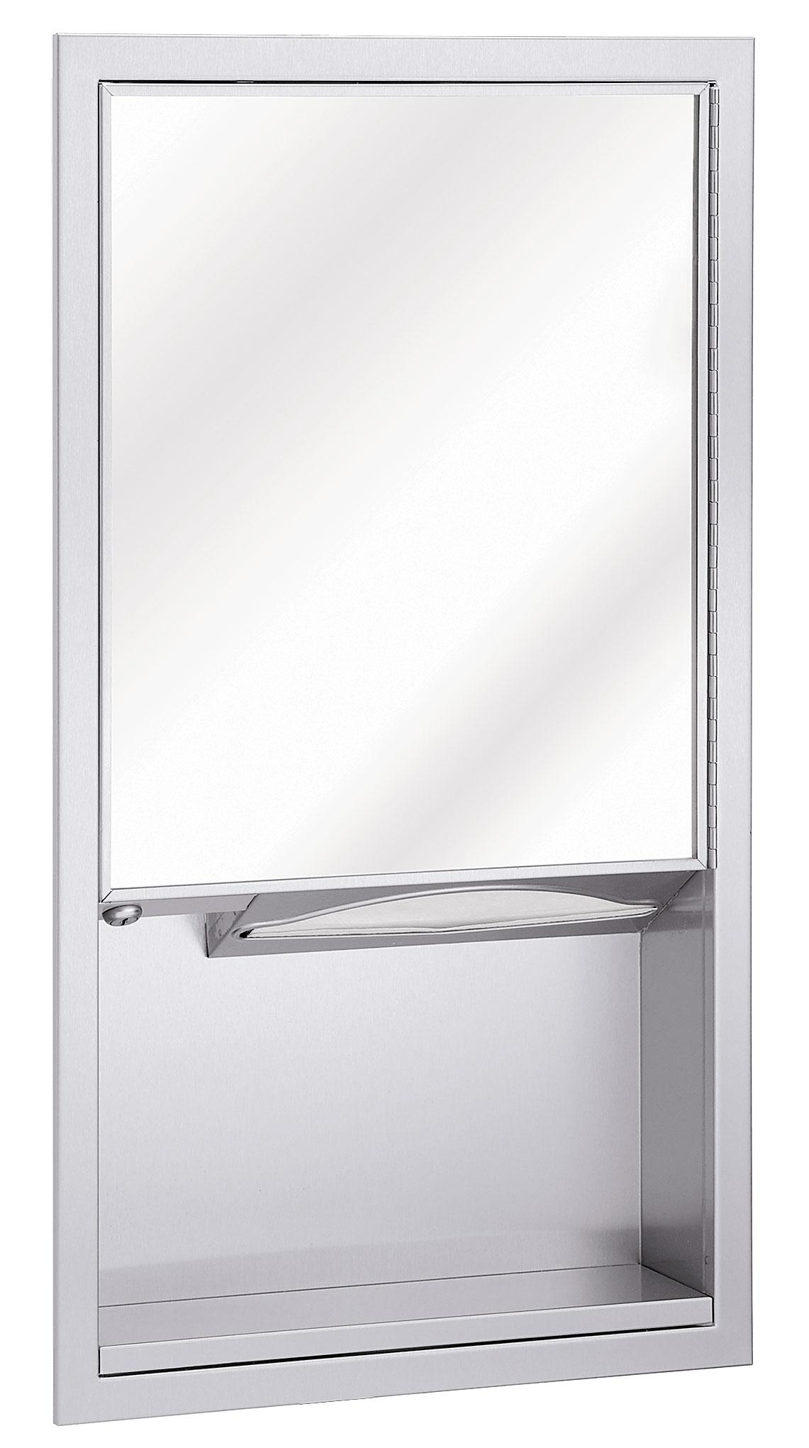Charming Bradley Mirror #8: Mirror, Towel Dispenser Multi-Purpose Unit