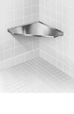 Stainless Steel Corner Shower Seat - Bradley Corporation