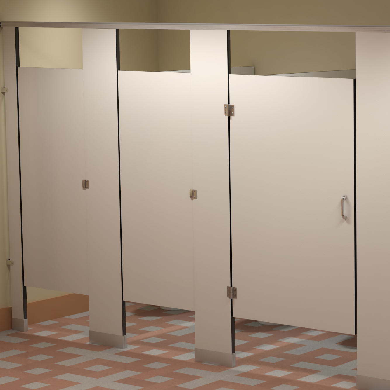Bradley Bathroom Accessories Solid Phenolic Core Partitions  Bradley Corporation