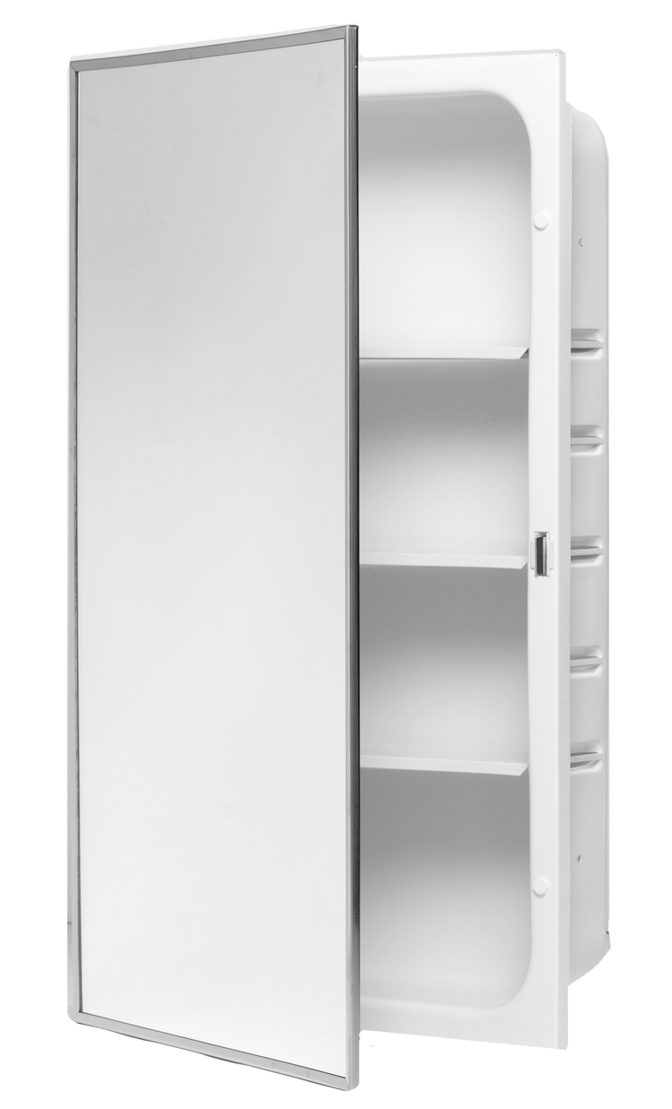 Charmant 3 Shelf Powder Coated Body Medicine Cabinet