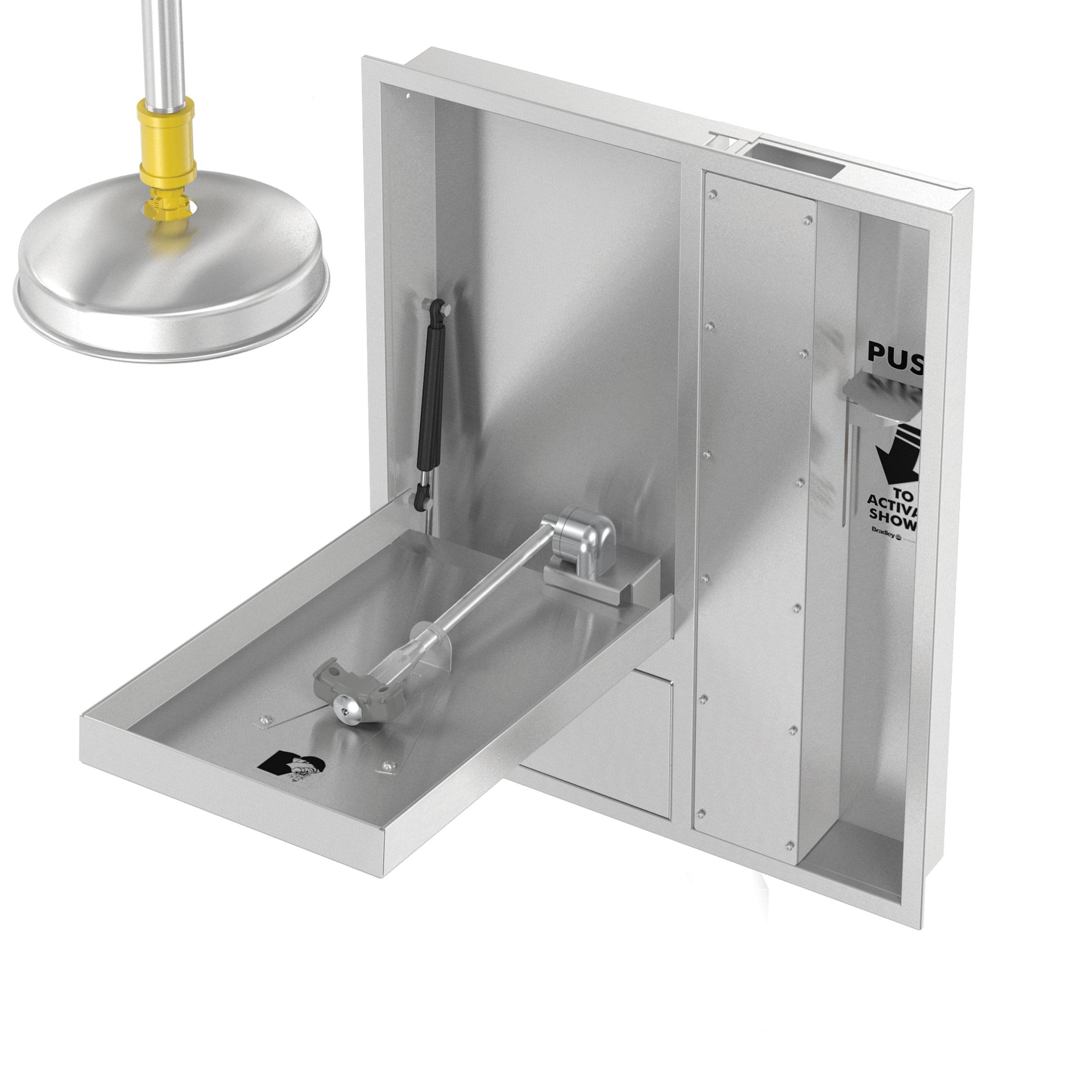 Barrier Free Concealed Eyewash Amp Drench Shower Bradley
