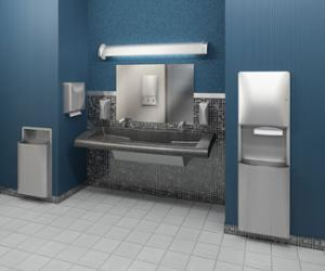restroom featuring a 3 station G-Series Verge Lavatory System