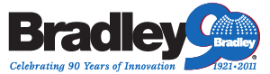 Bradley Coporation 90th year logo
