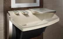 Advocate Lavatory System AV-Series combines soap, water, and hand drying into one fixture