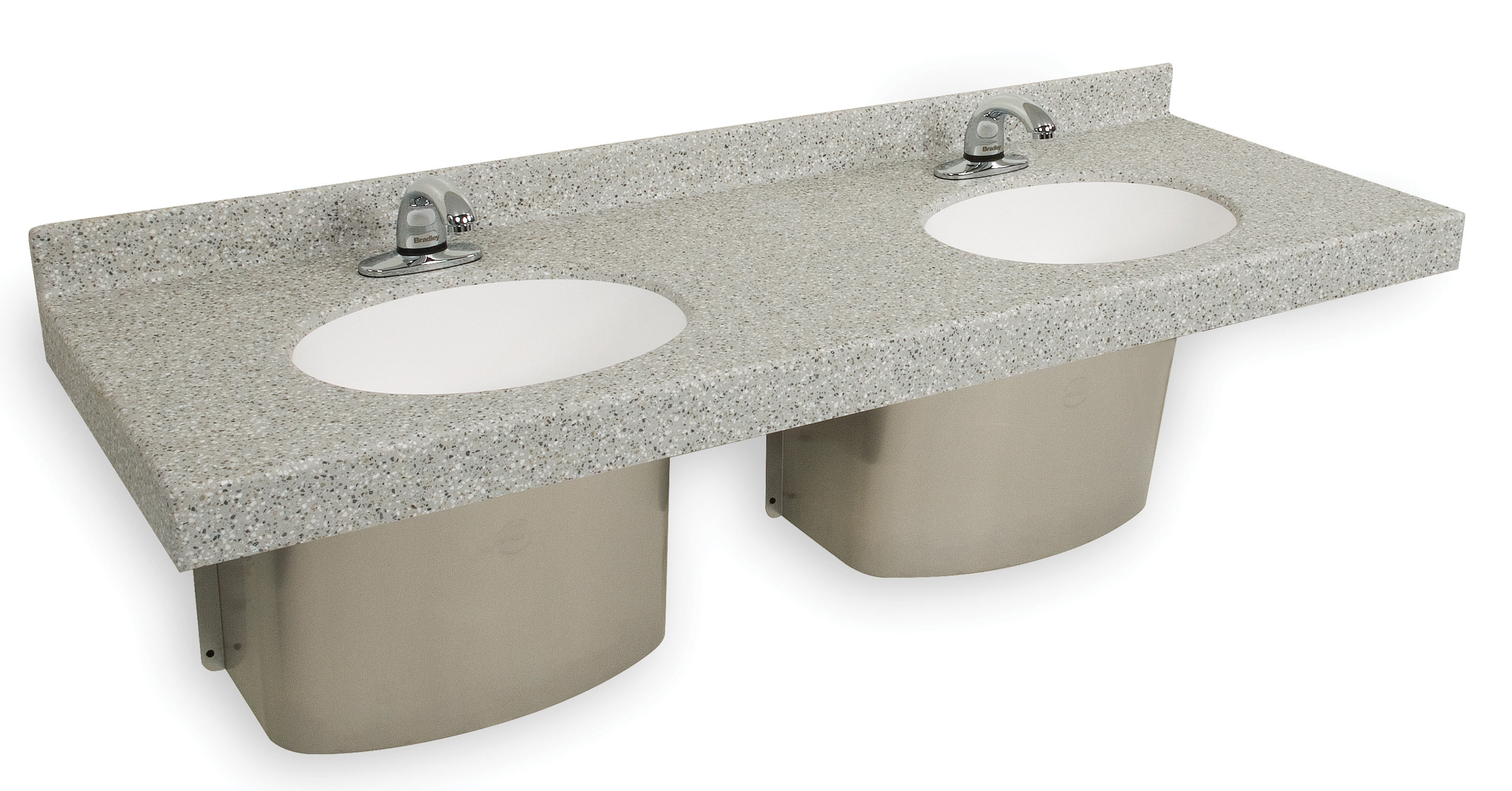 Omnideck With Oval Handwashing Basin Bradley Corporation