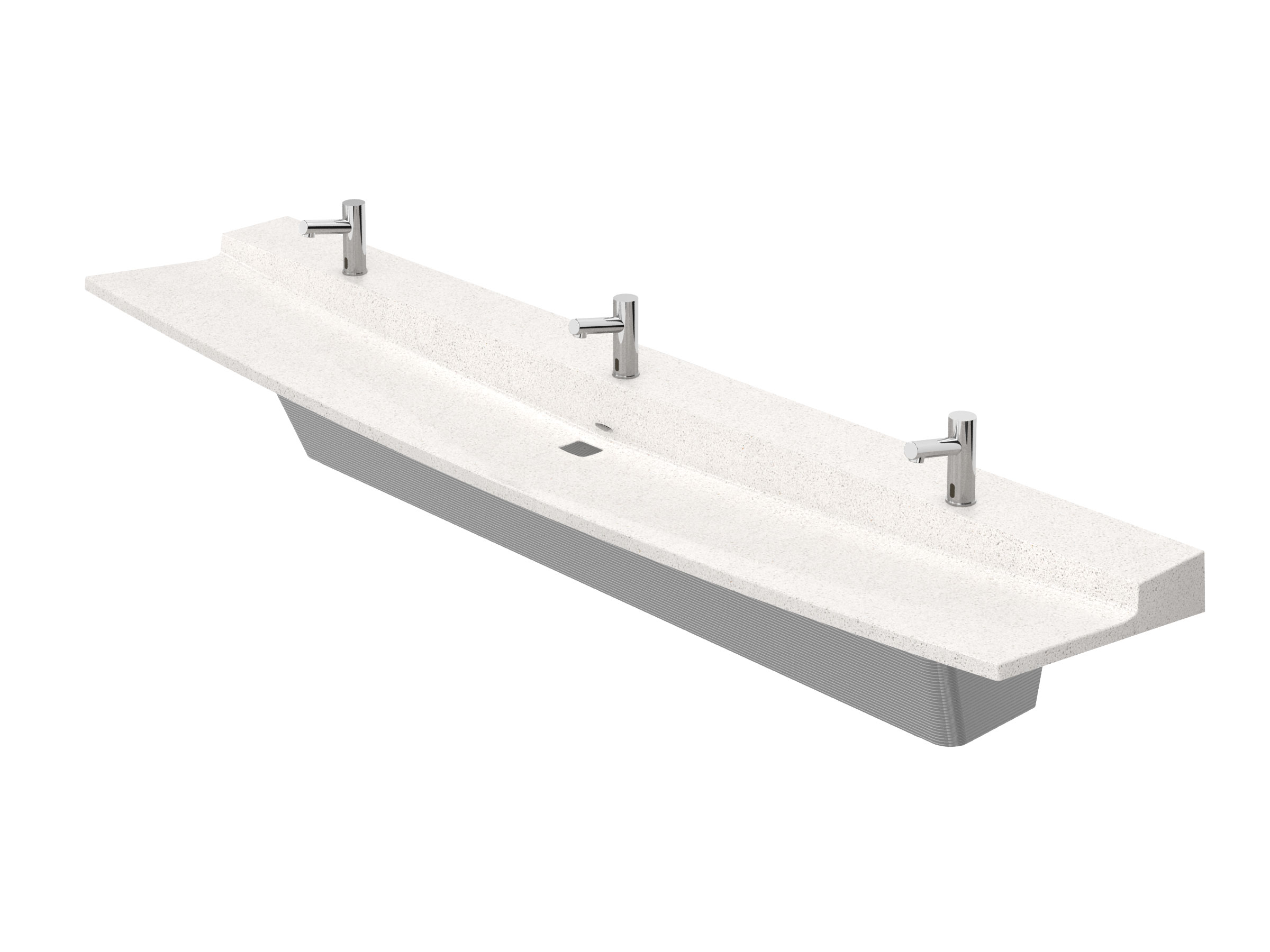 Bradley Commercial Sinks : Station L-Series Verge Lavatory System - Model LVLD3