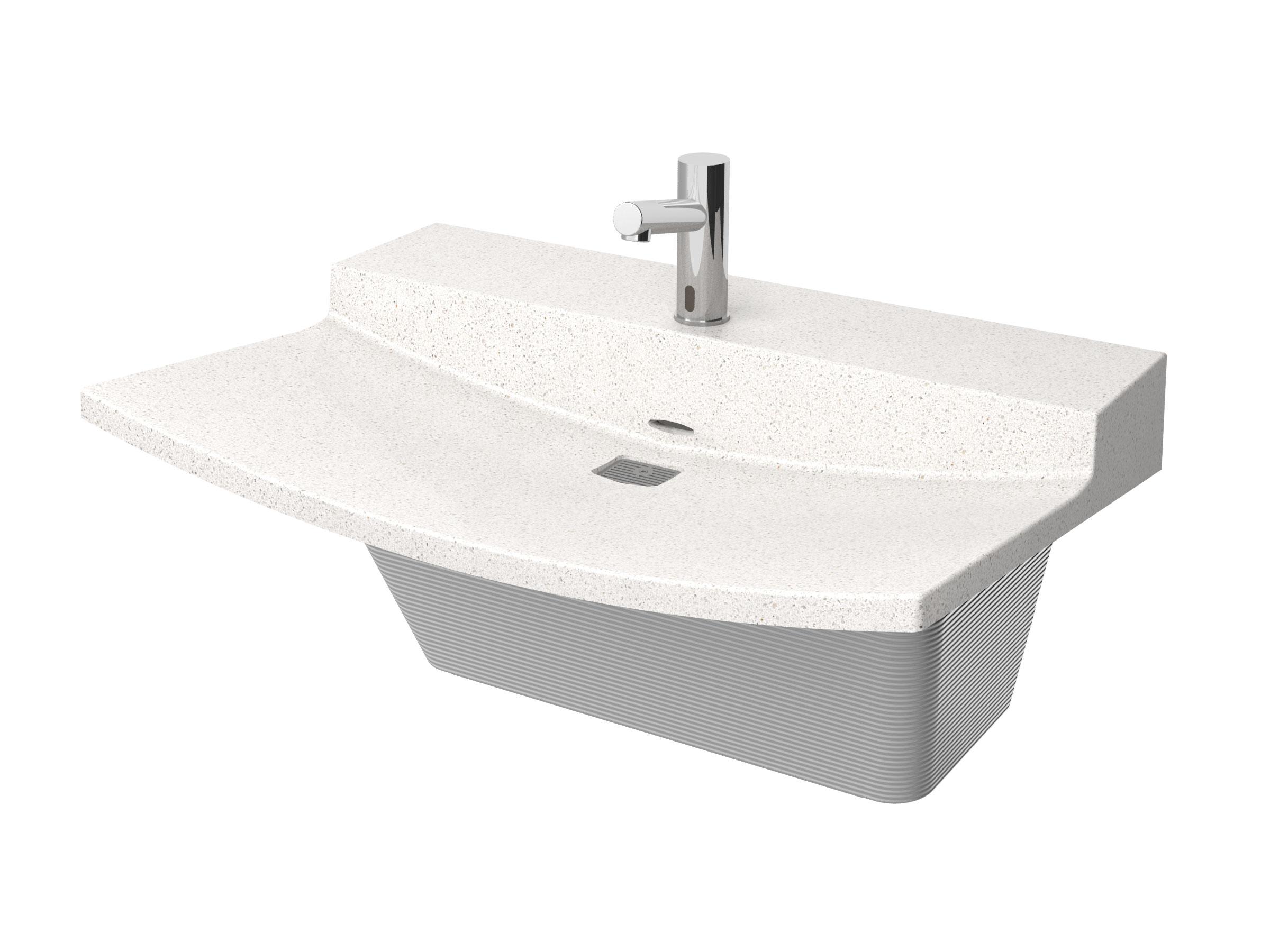 Bradley Commercial Sinks : Station L-Series Verge Lavatory System - Model LVLD1