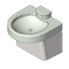 BIM model of a Ligature-Resistant Lavatory with no No_Water_Heater-Powered_Sensor - Model HSL1