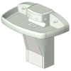 BIM model of a 4-station quadra fount, floor-mounted, Terreon solid surface Multi-Fount washfountain - Model MF2944