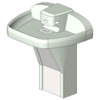BIM model of a 3-station tri-fount, floor mounted Terreon solid surface Multi-Fount washfountain - Model MF2933