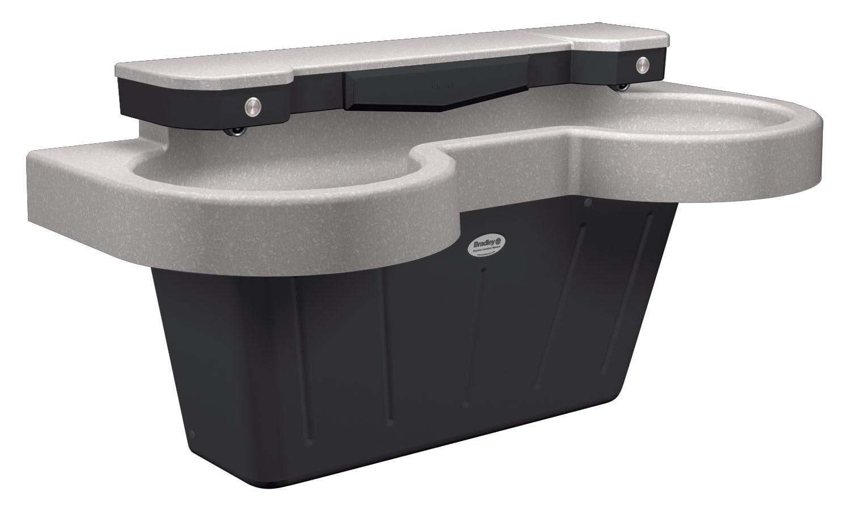Bradley Sinks : handwashing sink SS-Series express lavatory system with NDITE ...