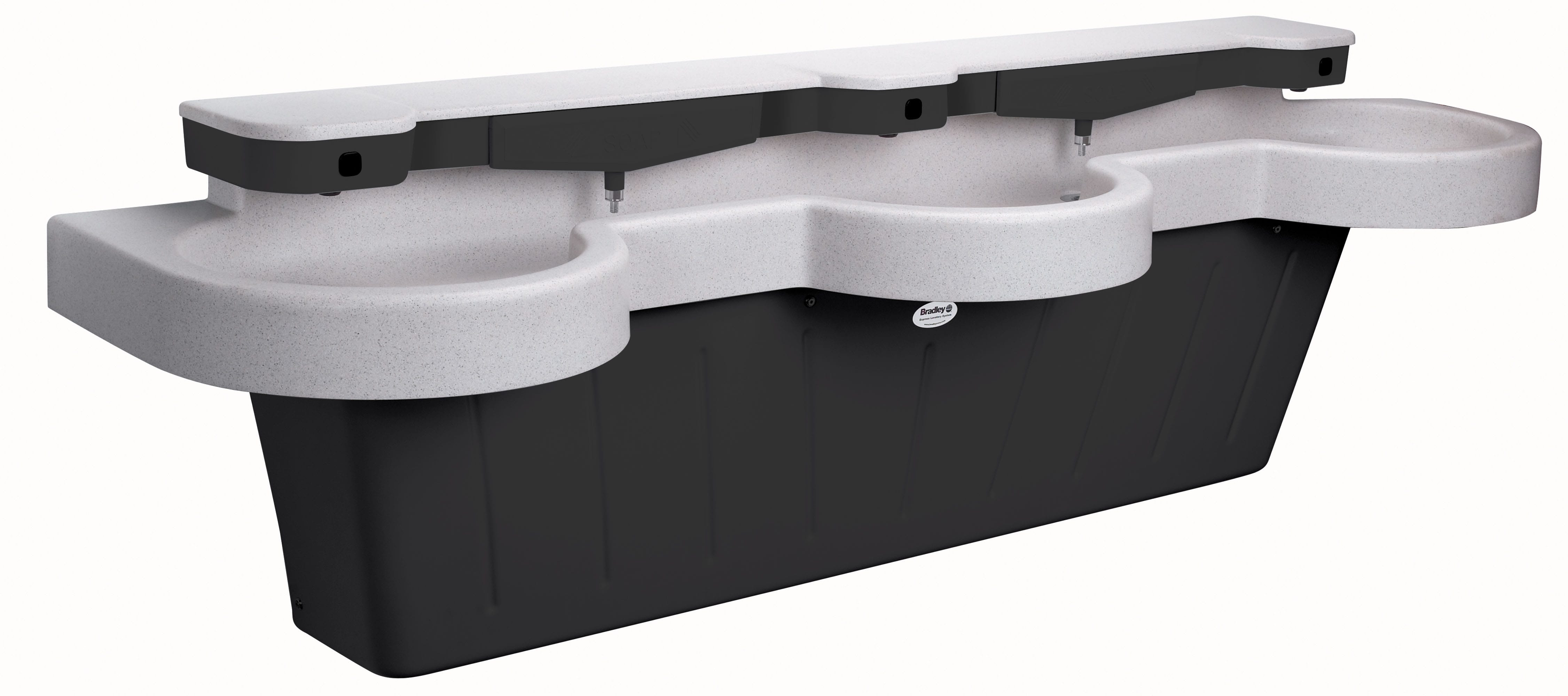 Bradley Commercial Sinks : handwashing sink SS-Series Express lavatory system - Model SS-3N