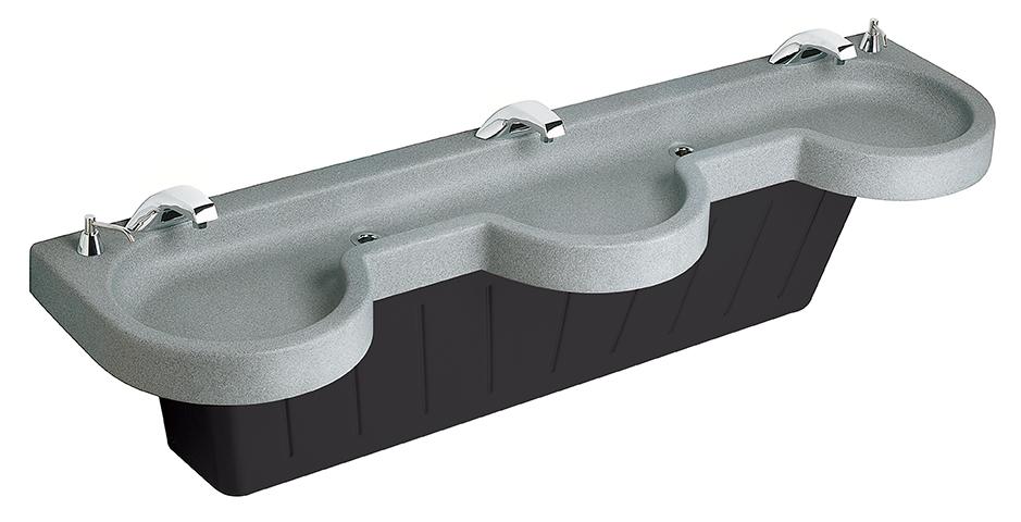Bradley Sinks : handwashing sink EXD-Series Express Lavatory System - Model EXD-3N