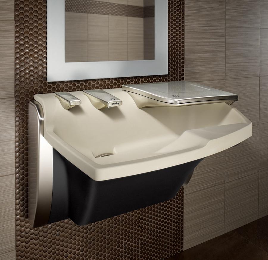 Advocate all in one lavatory systems av series bradley - Secador de manos ...
