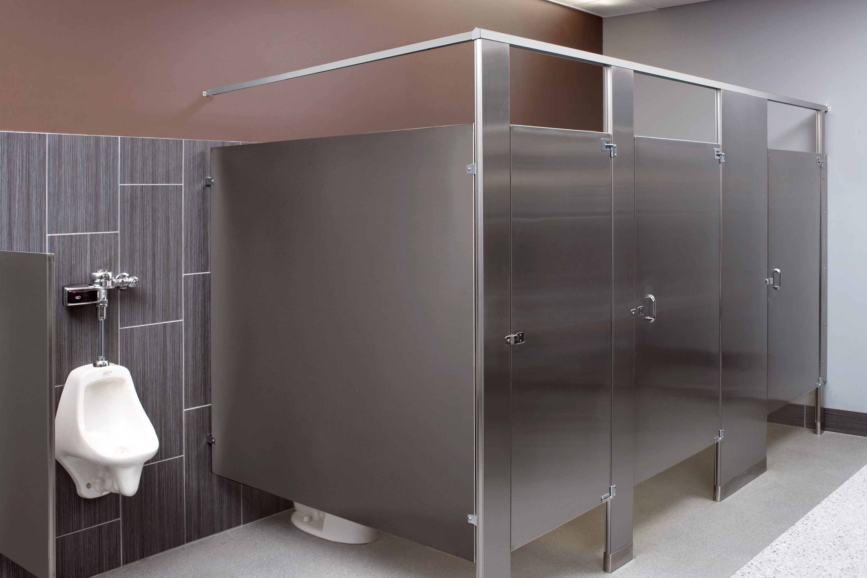 Restroom With Stainless Partitions Bradley Corporation