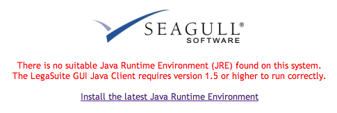 No suitable Java Runtime Environment