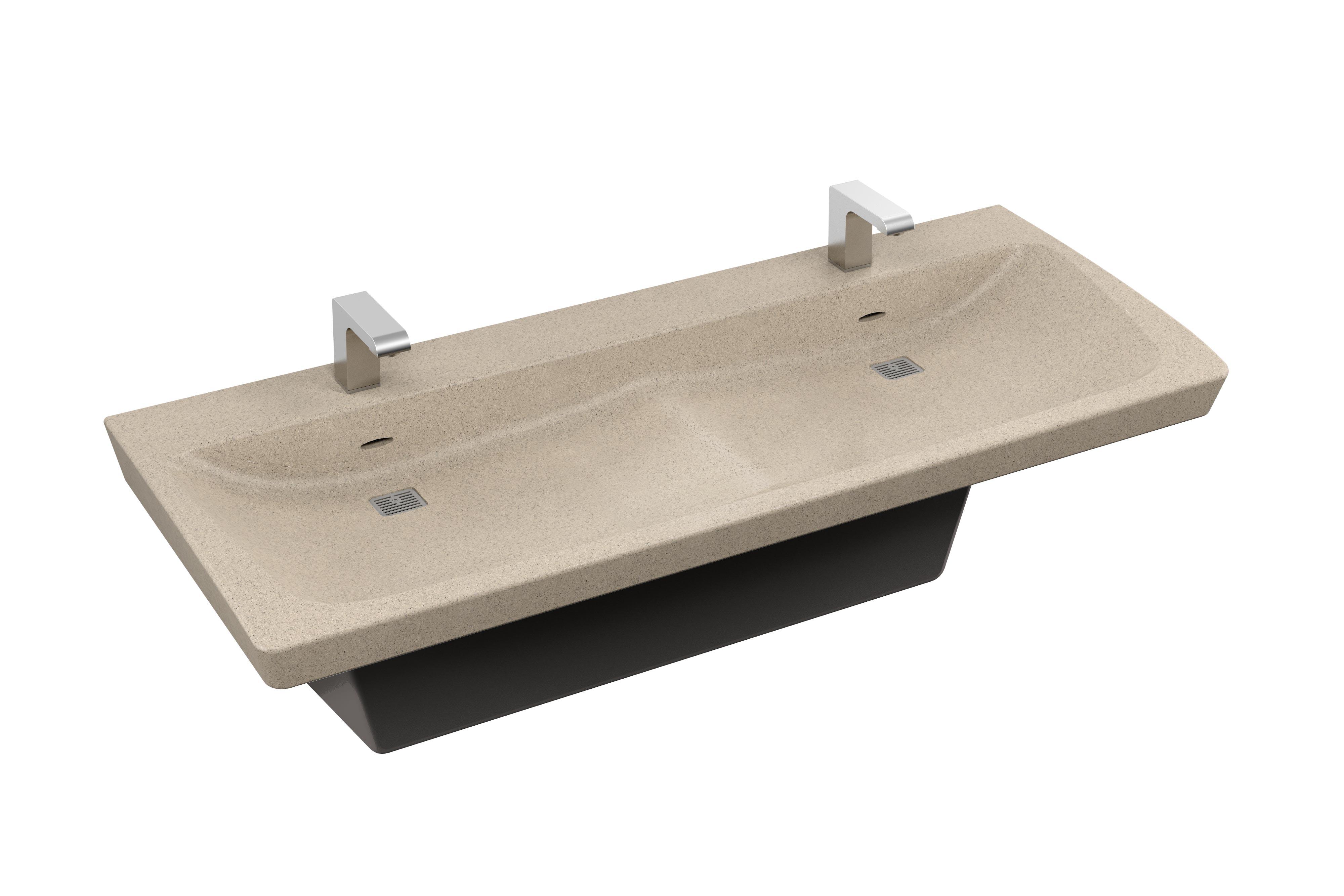 bradley bathroom. TerreonRE Recycled Solid Surface Material Bradley Bathroom A