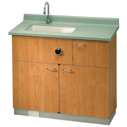 Patient Care Cabinet with sink and hide away toilet - Model LC700