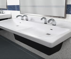 school bathroom sink made of Terreon solid surface - Express ELX-  Series Model ELX-2