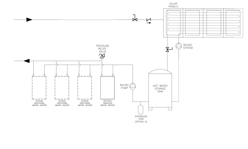 Solar water heating system tankless booster plumbing diagram plumbing diagram of a solar water heating system tankless booster ccuart Images
