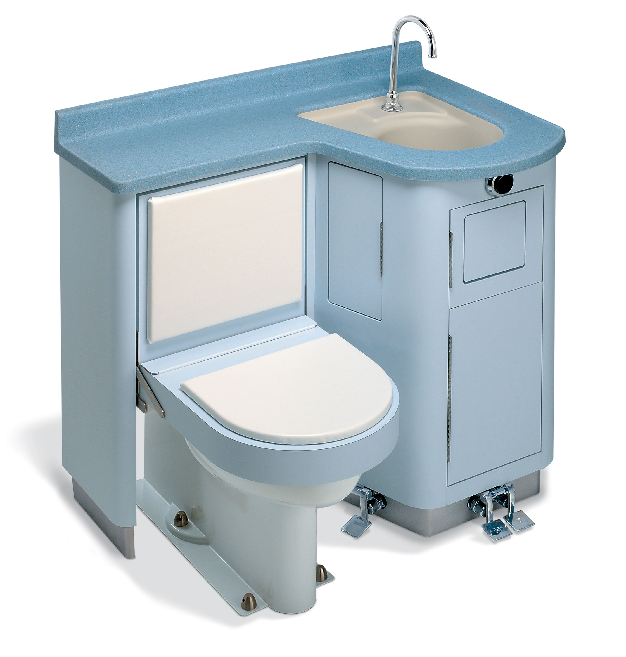 Lavatory fixed water closet bed pan washer comby for Toilet and sink combo