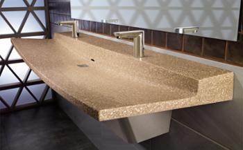 commercial bathroom sink made of natural quartz surface - Commercial Bathroom