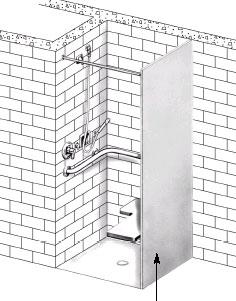 ADA Compliant In Wall Shower