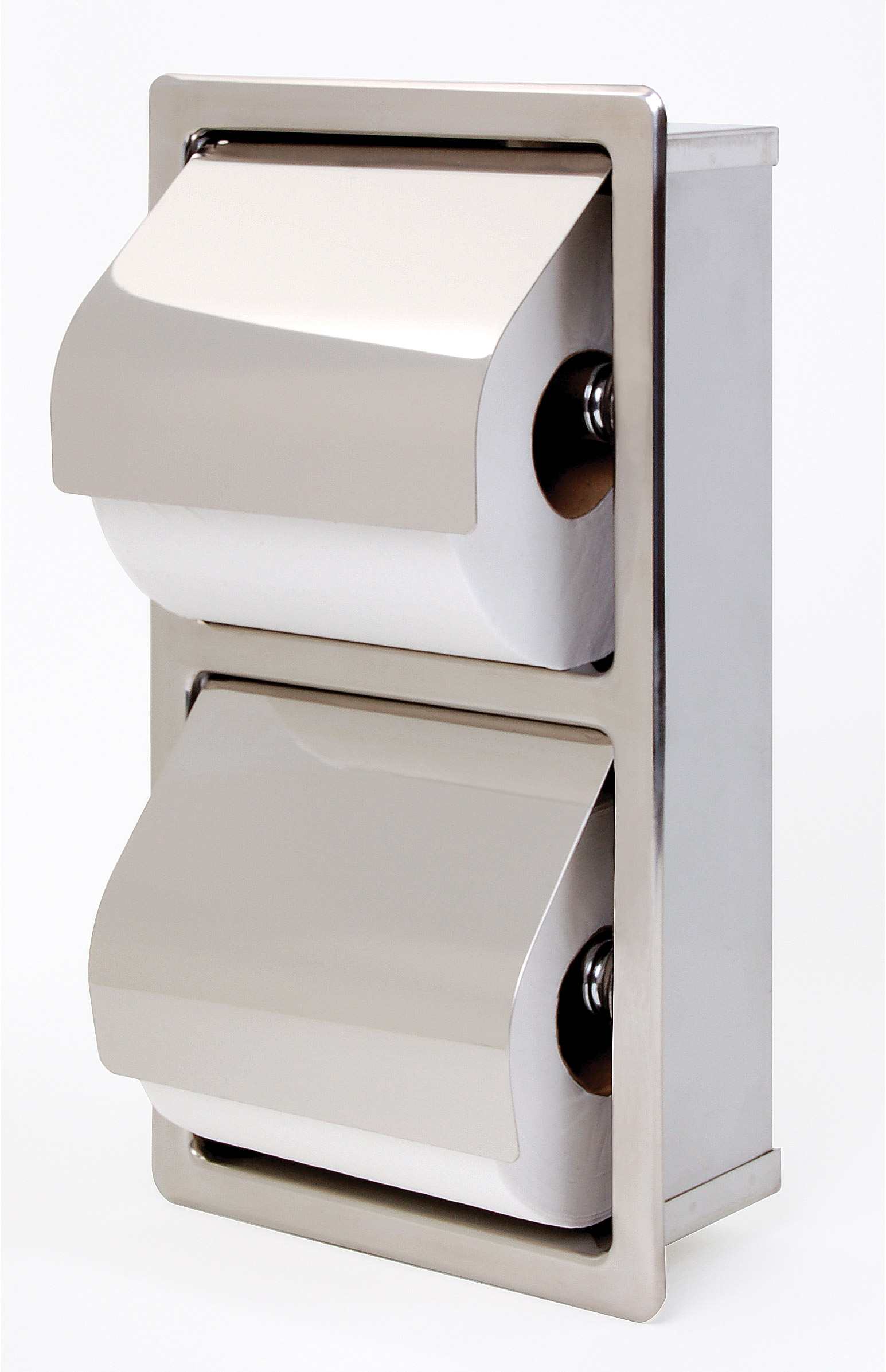 Recessed Hinged Hood Stacking Rolls Toilet Tissue