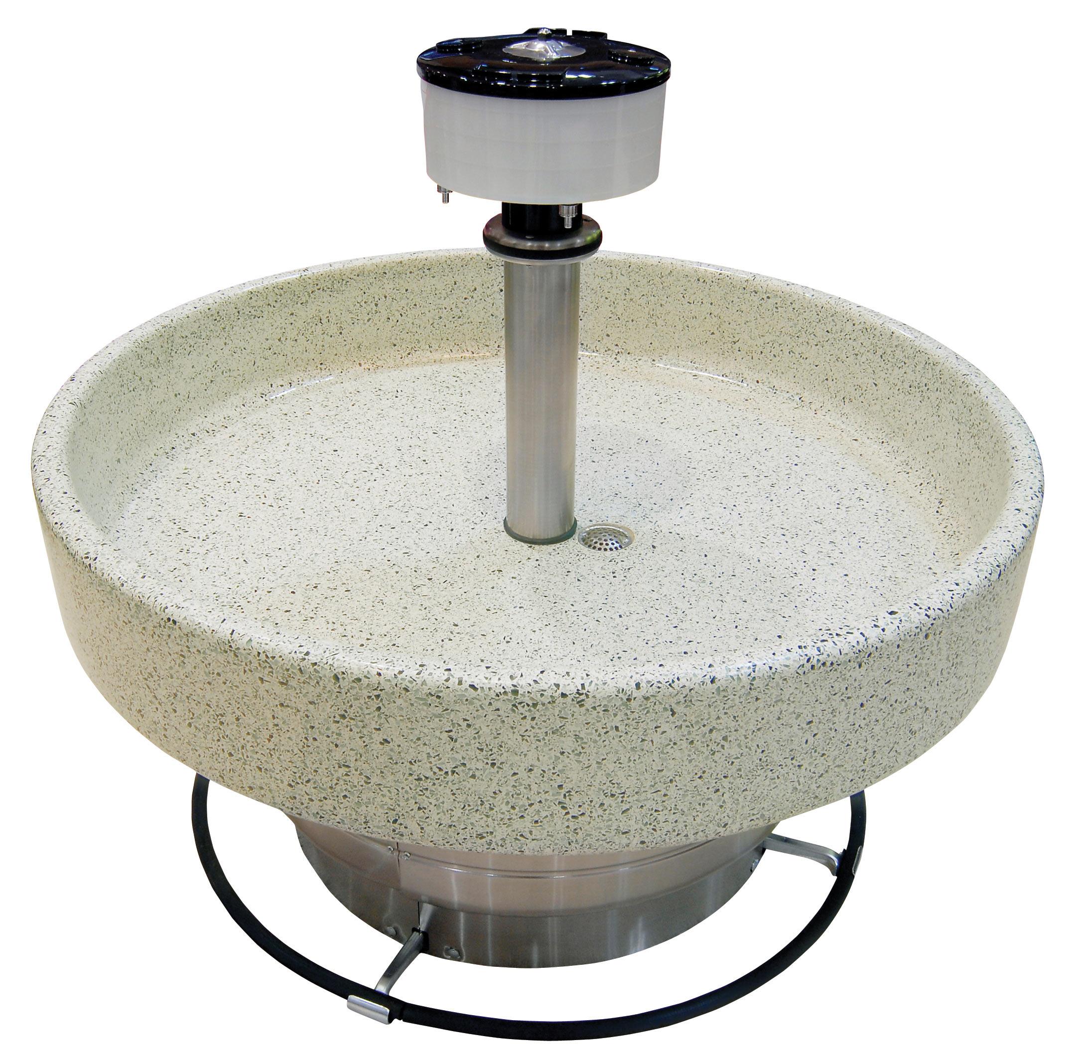 Terrazzo Circular Classic Washfountain Bradley Corporation