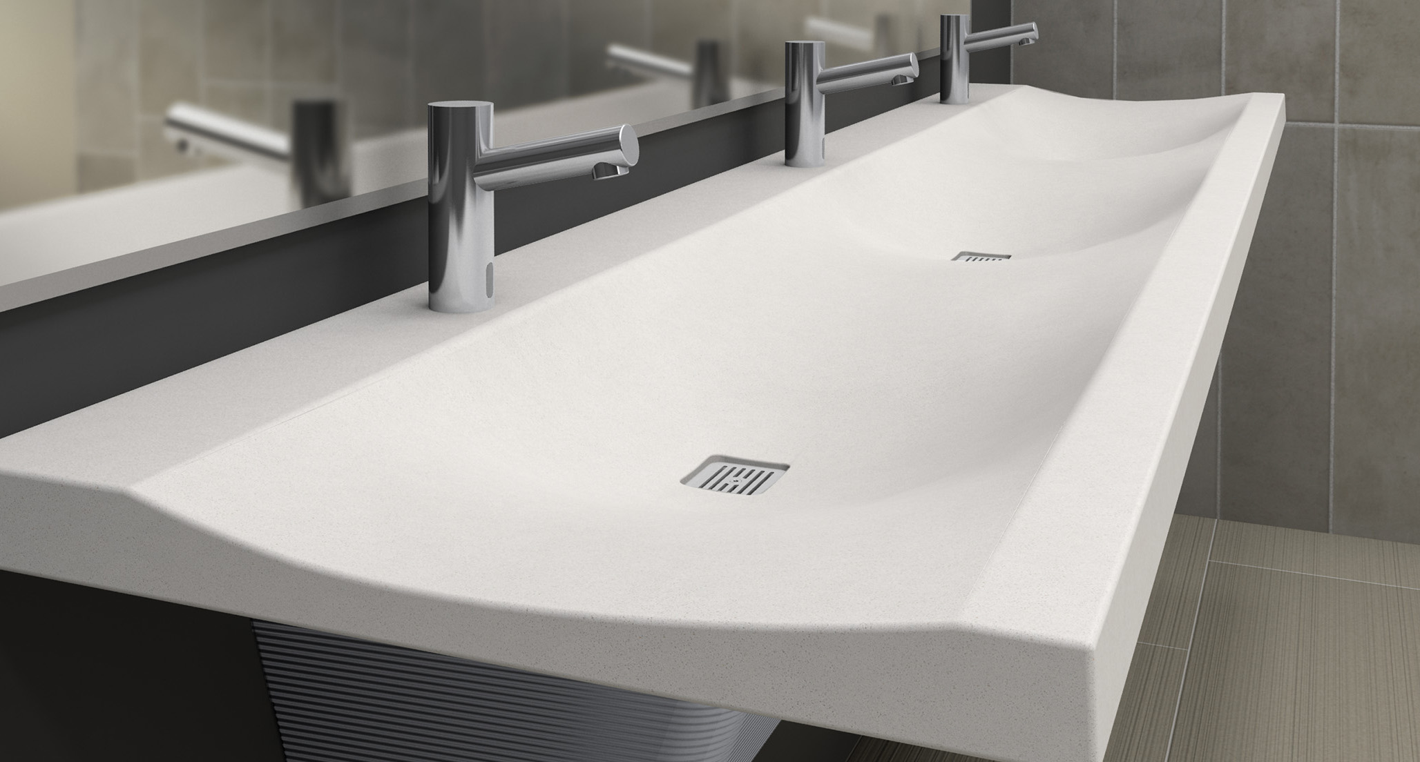 stunning solid quartz commercial sink
