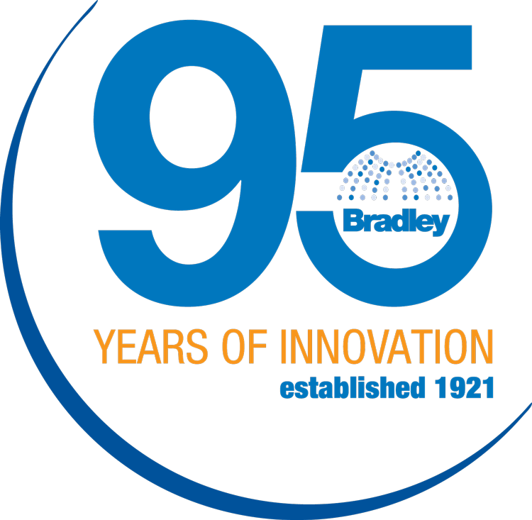 Bradley Coporation 95th year logo