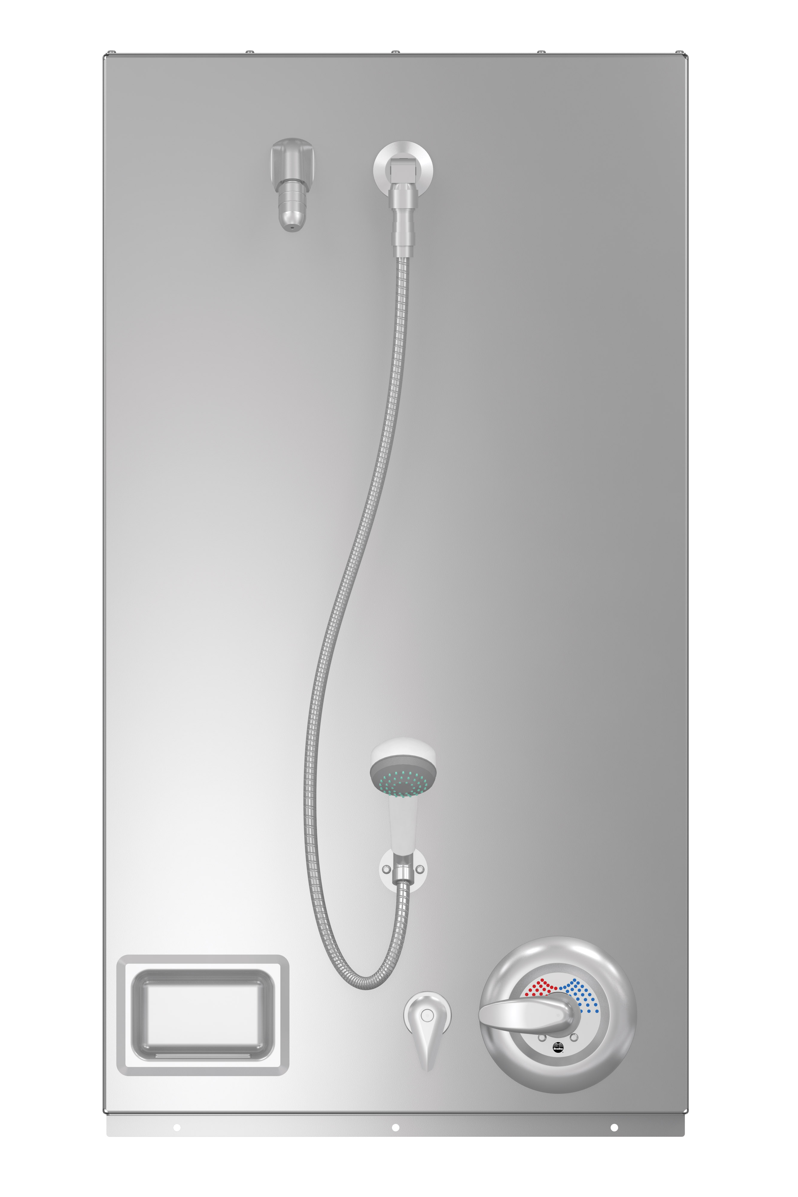 California Only Surface Mounted ADA Compliant Wall Shower - Bradley ...